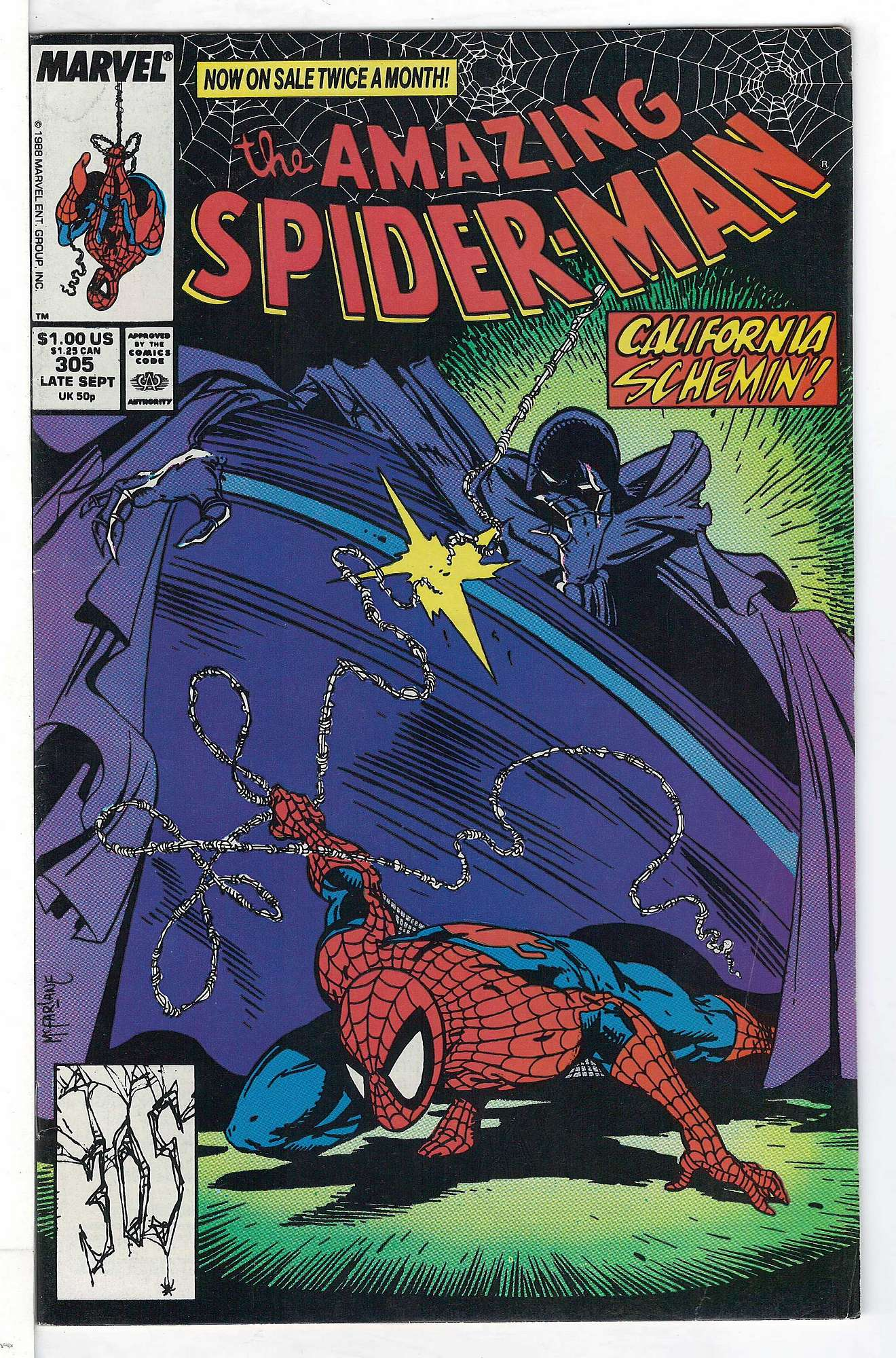 Cover of Amazing Spider-Man (Vol 1) #305. One of 250,000 Vintage American Comics on sale from Krypton!