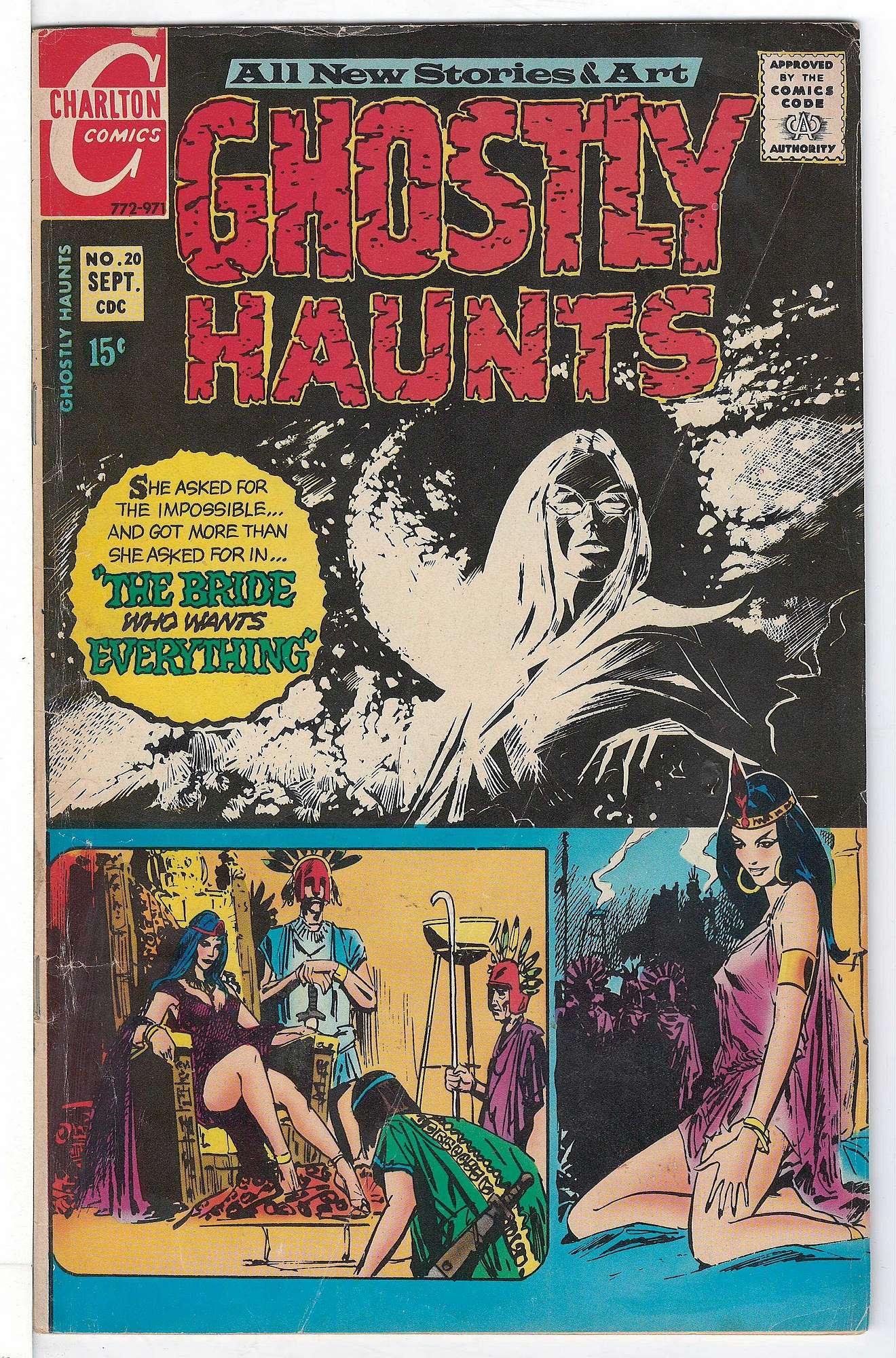 Cover of Ghostly Haunts (Vol 1) #20. One of 250,000 Vintage American Comics on sale from Krypton!