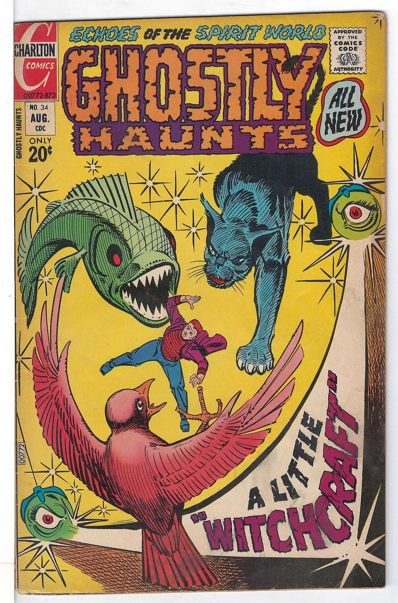 Cover of Ghostly Haunts (Vol 1) #34. One of 250,000 Vintage American Comics on sale from Krypton!