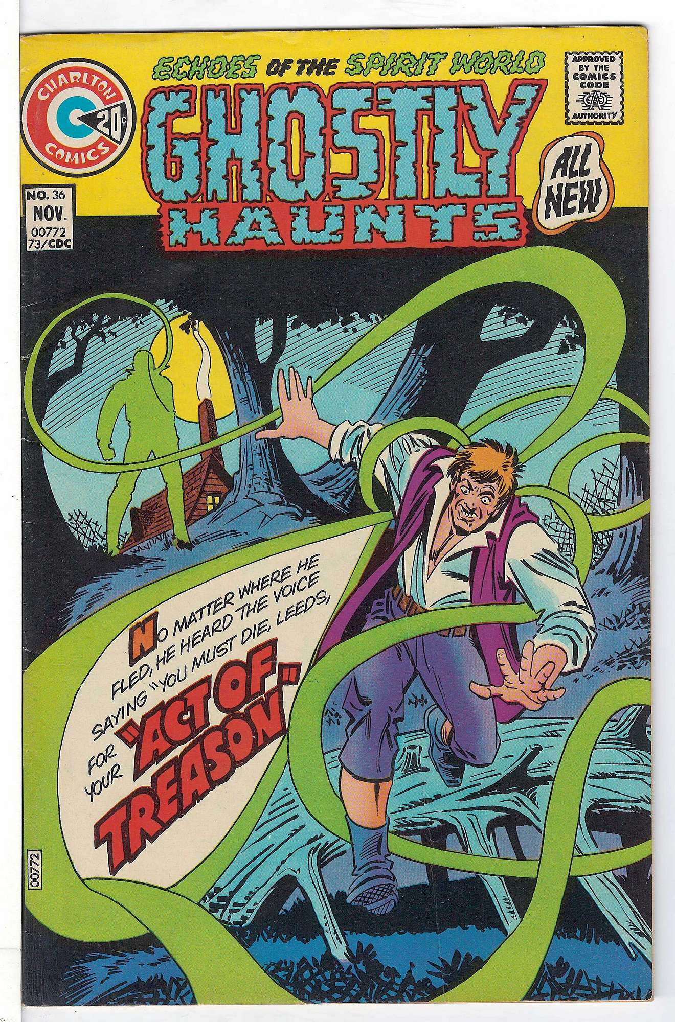Cover of Ghostly Haunts (Vol 1) #36. One of 250,000 Vintage American Comics on sale from Krypton!