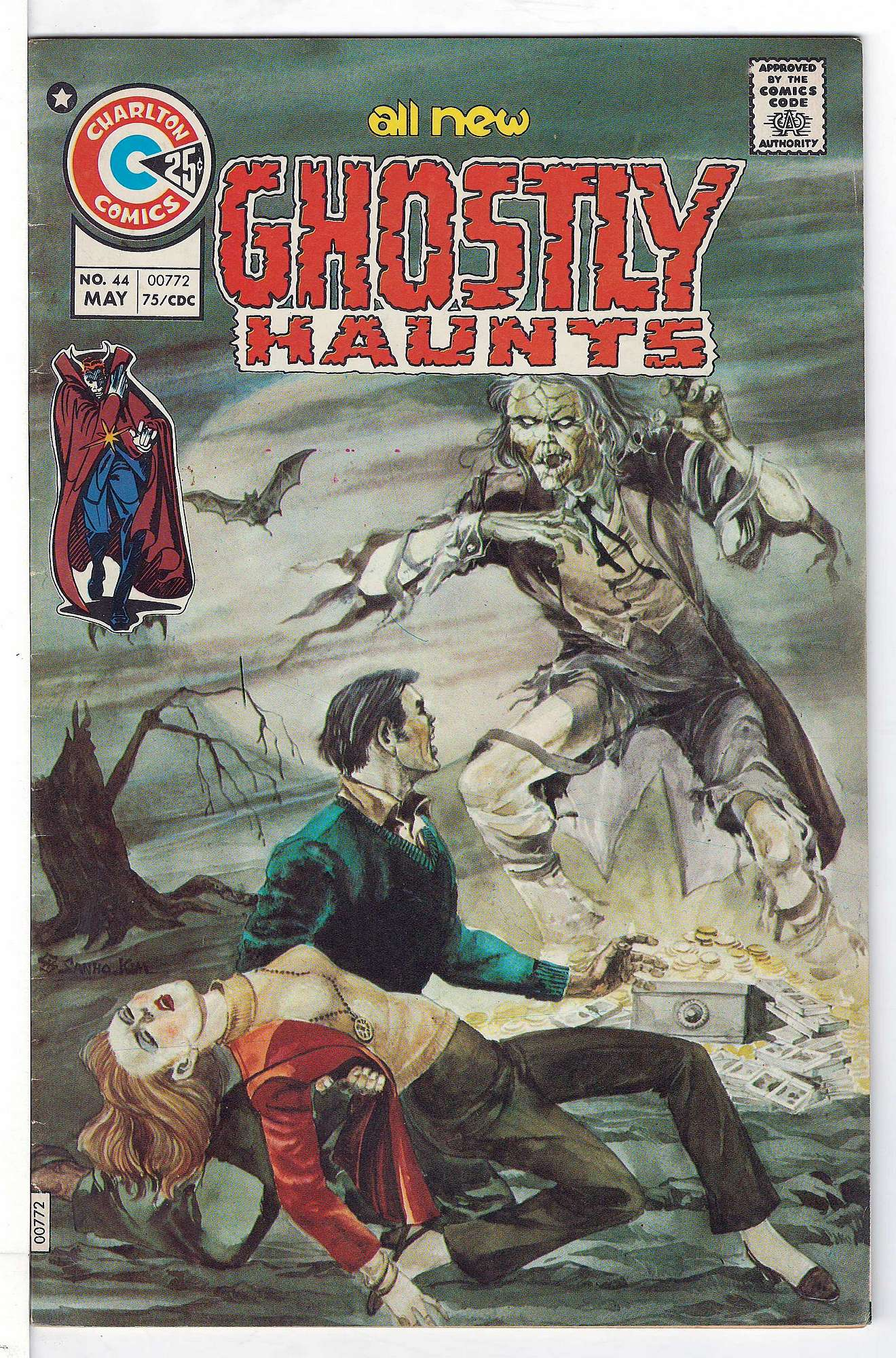 Cover of Ghostly Haunts (Vol 1) #44. One of 250,000 Vintage American Comics on sale from Krypton!