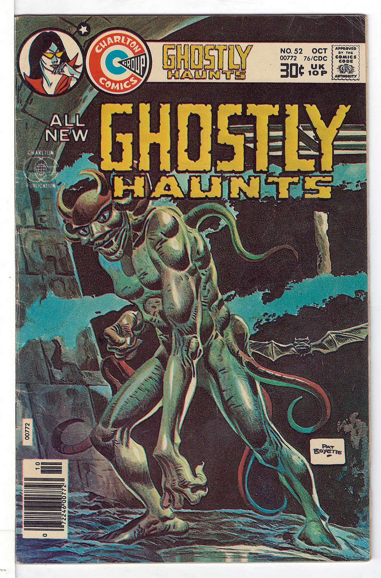 Cover of Ghostly Haunts (Vol 1) #52. One of 250,000 Vintage American Comics on sale from Krypton!