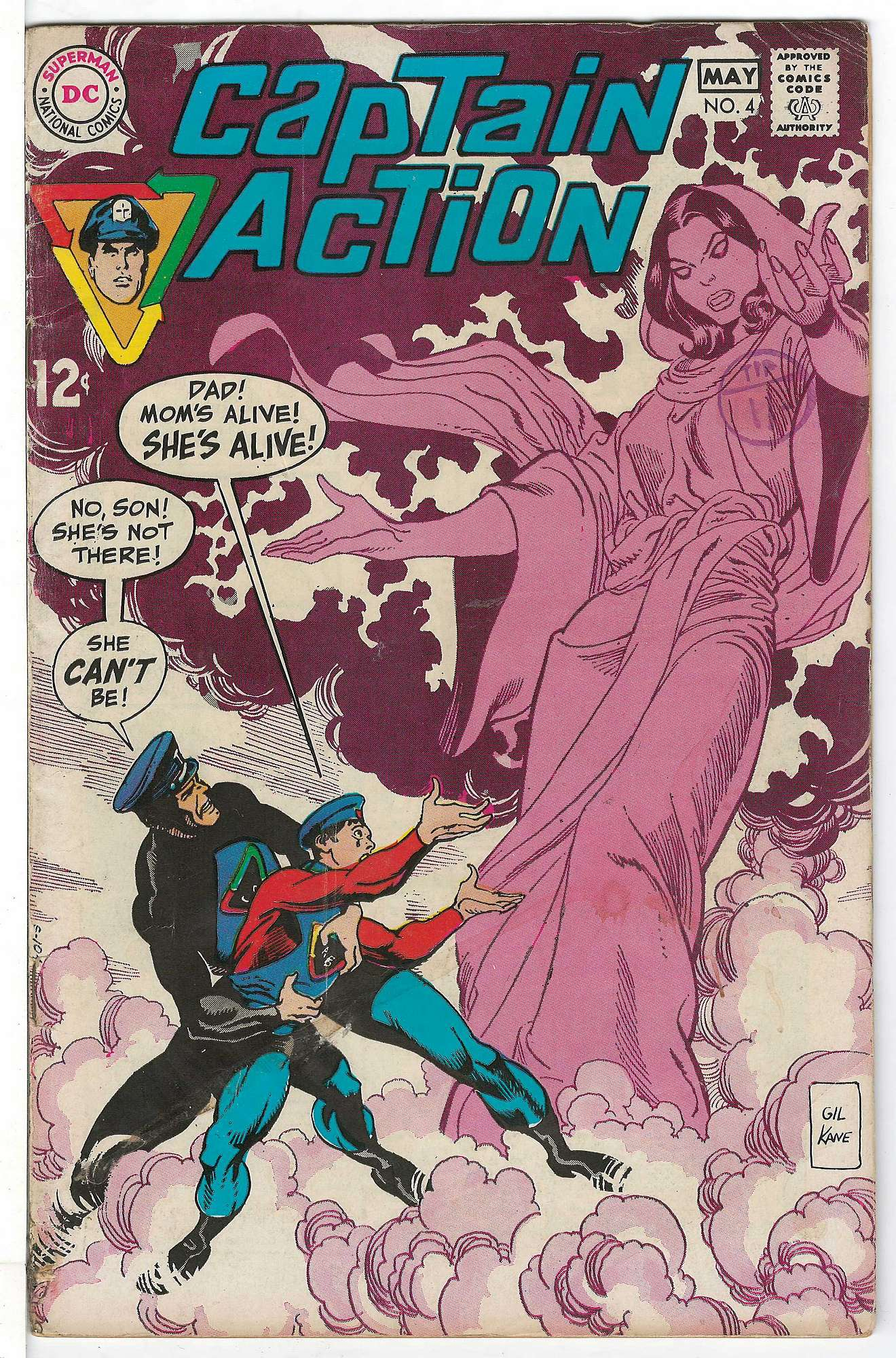 Cover of Captain Action #4. One of 250,000 Vintage American Comics on sale from Krypton!