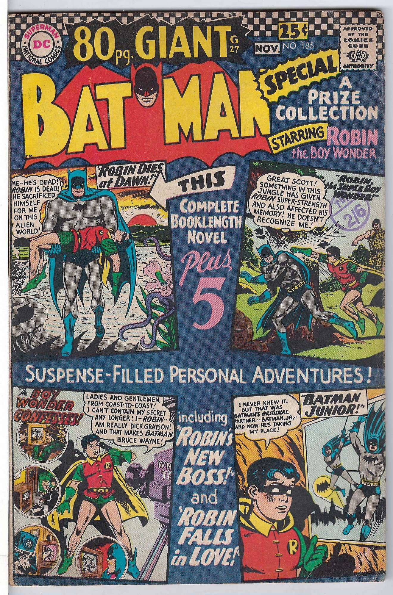 Cover of Batman #185. One of 250,000 Vintage American Comics on sale from Krypton!