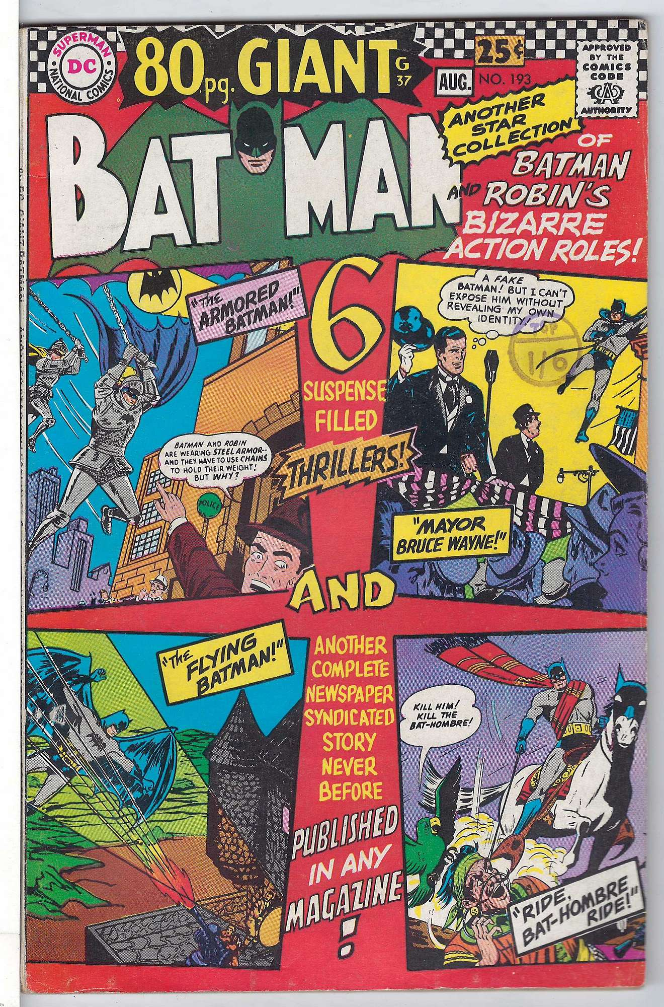 Cover of Batman #193. One of 250,000 Vintage American Comics on sale from Krypton!