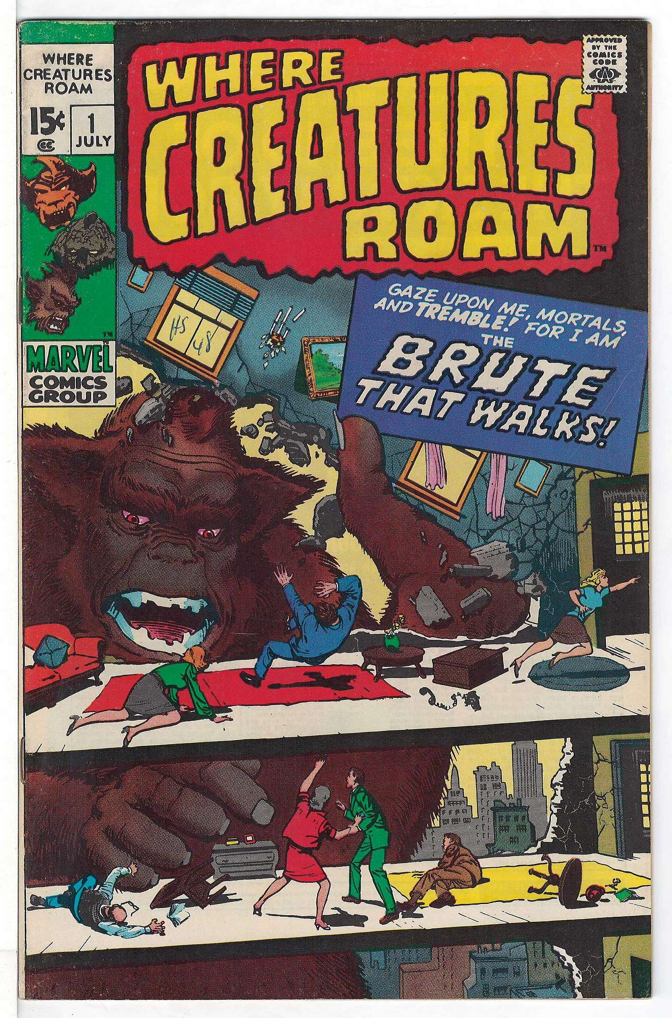 Cover of Where Creatures Roam #1. One of 250,000 Vintage American Comics on sale from Krypton!