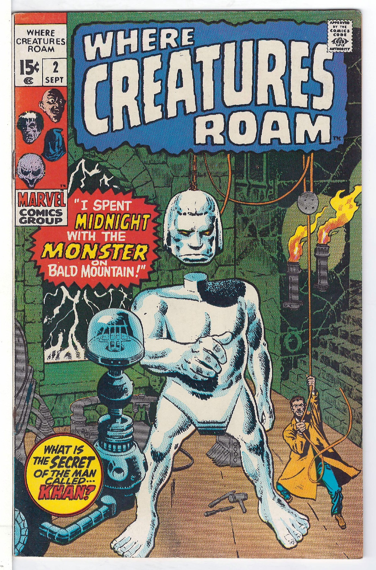 Cover of Where Creatures Roam #2. One of 250,000 Vintage American Comics on sale from Krypton!