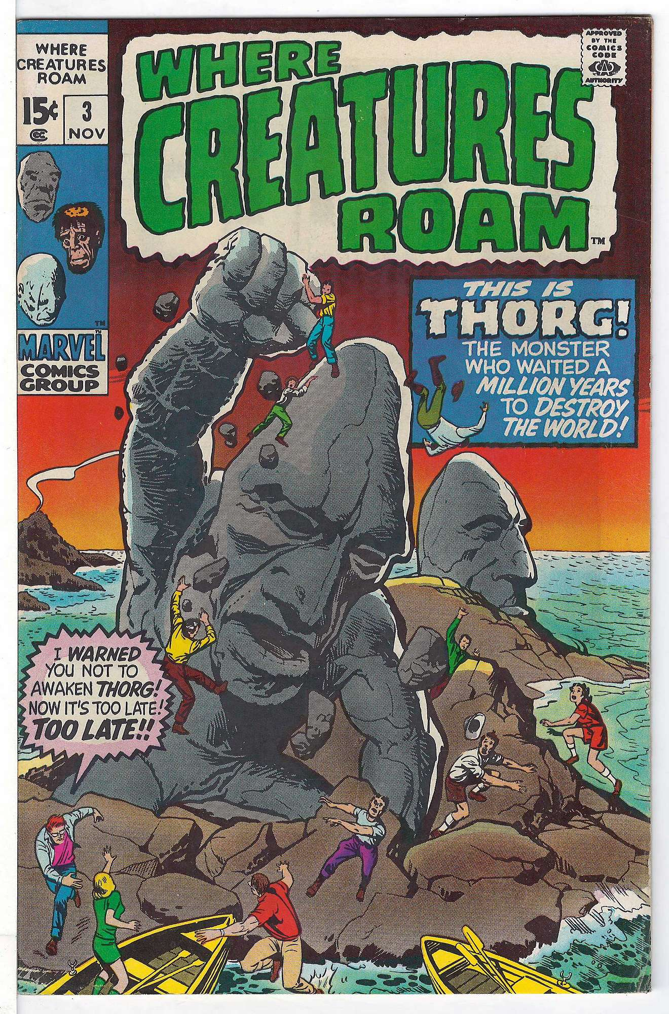 Cover of Where Creatures Roam #3. One of 250,000 Vintage American Comics on sale from Krypton!