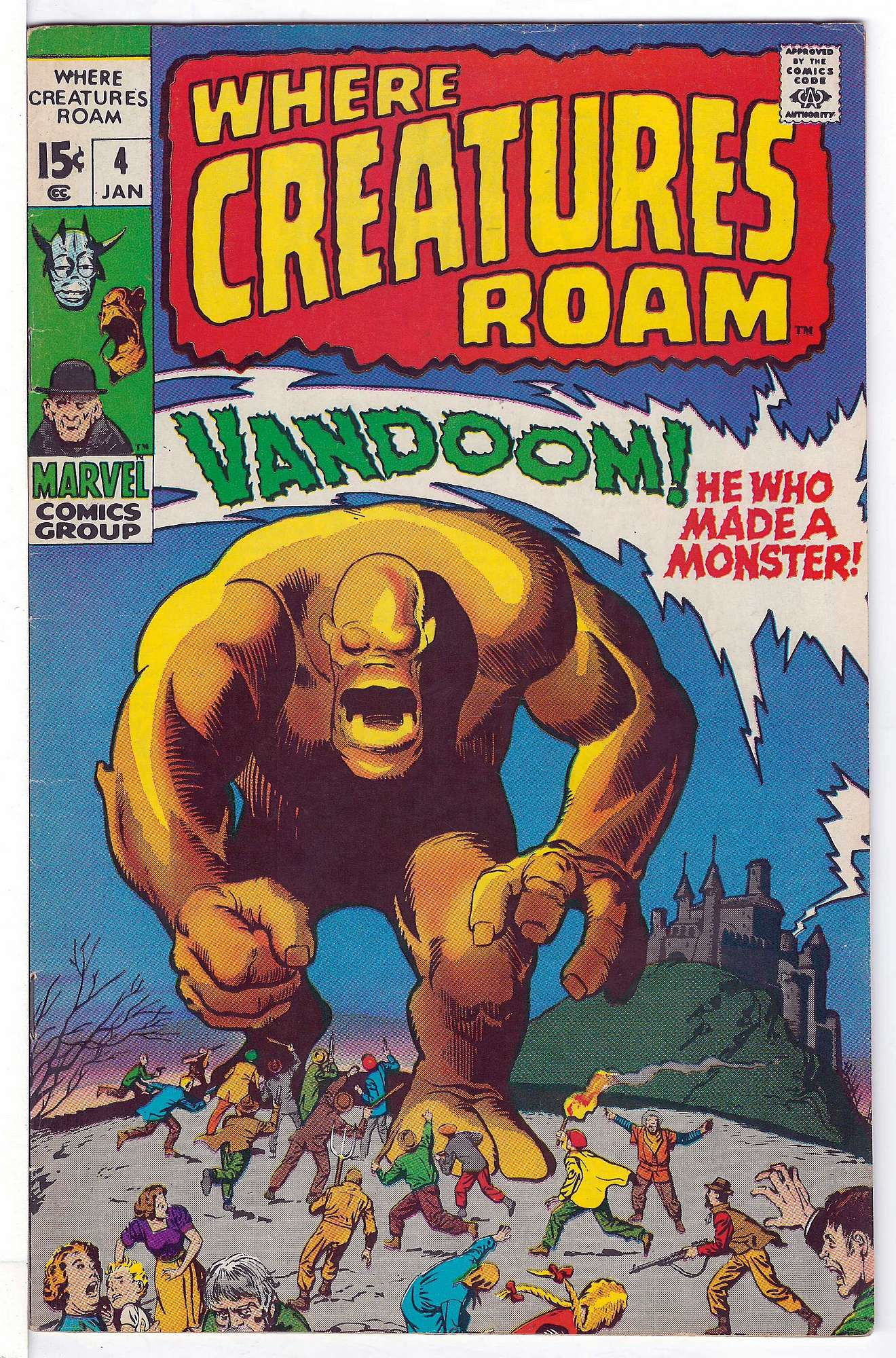 Cover of Where Creatures Roam #4. One of 250,000 Vintage American Comics on sale from Krypton!