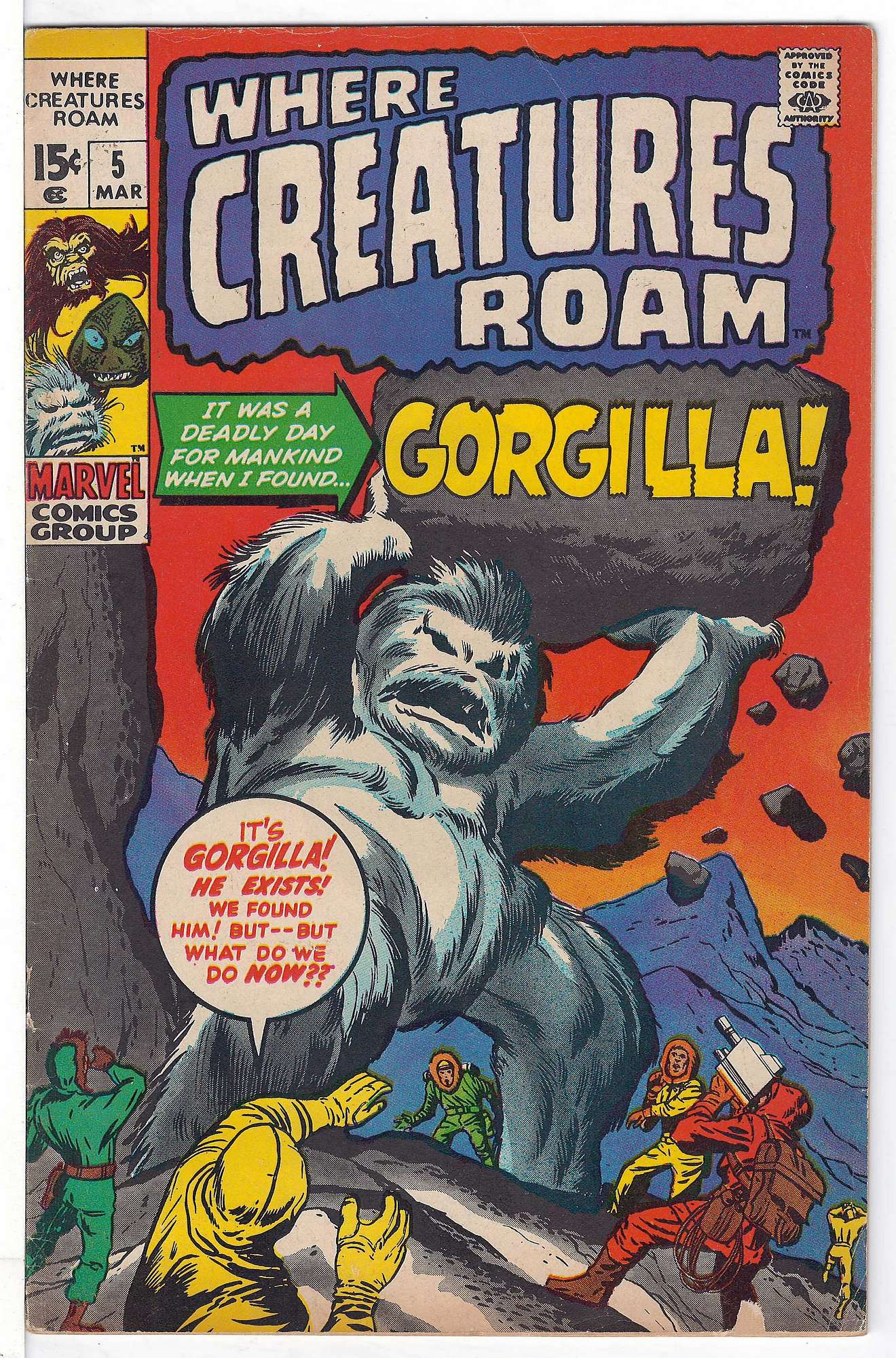 Cover of Where Creatures Roam #5. One of 250,000 Vintage American Comics on sale from Krypton!