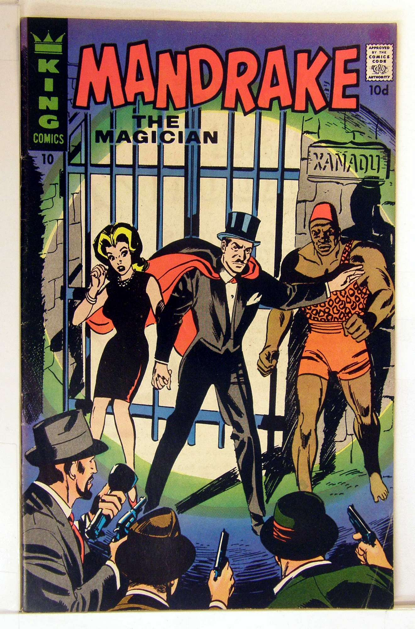 Cover of Mandrake (King Comics) #10. One of 250,000 Vintage American Comics on sale from Krypton!