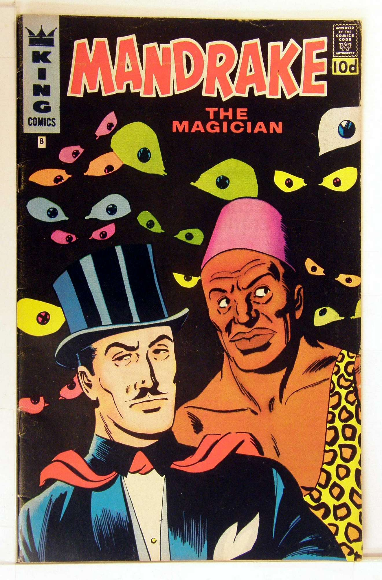Cover of Mandrake (King Comics) #8. One of 250,000 Vintage American Comics on sale from Krypton!
