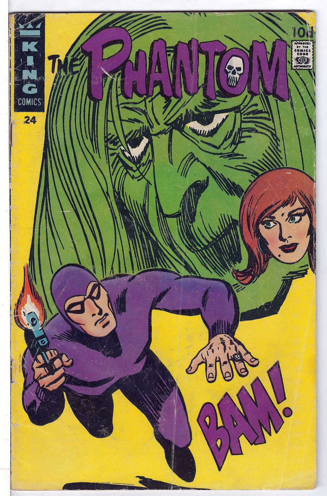 Cover of Phantom (King Comics) #24. One of 250,000 Vintage American Comics on sale from Krypton!