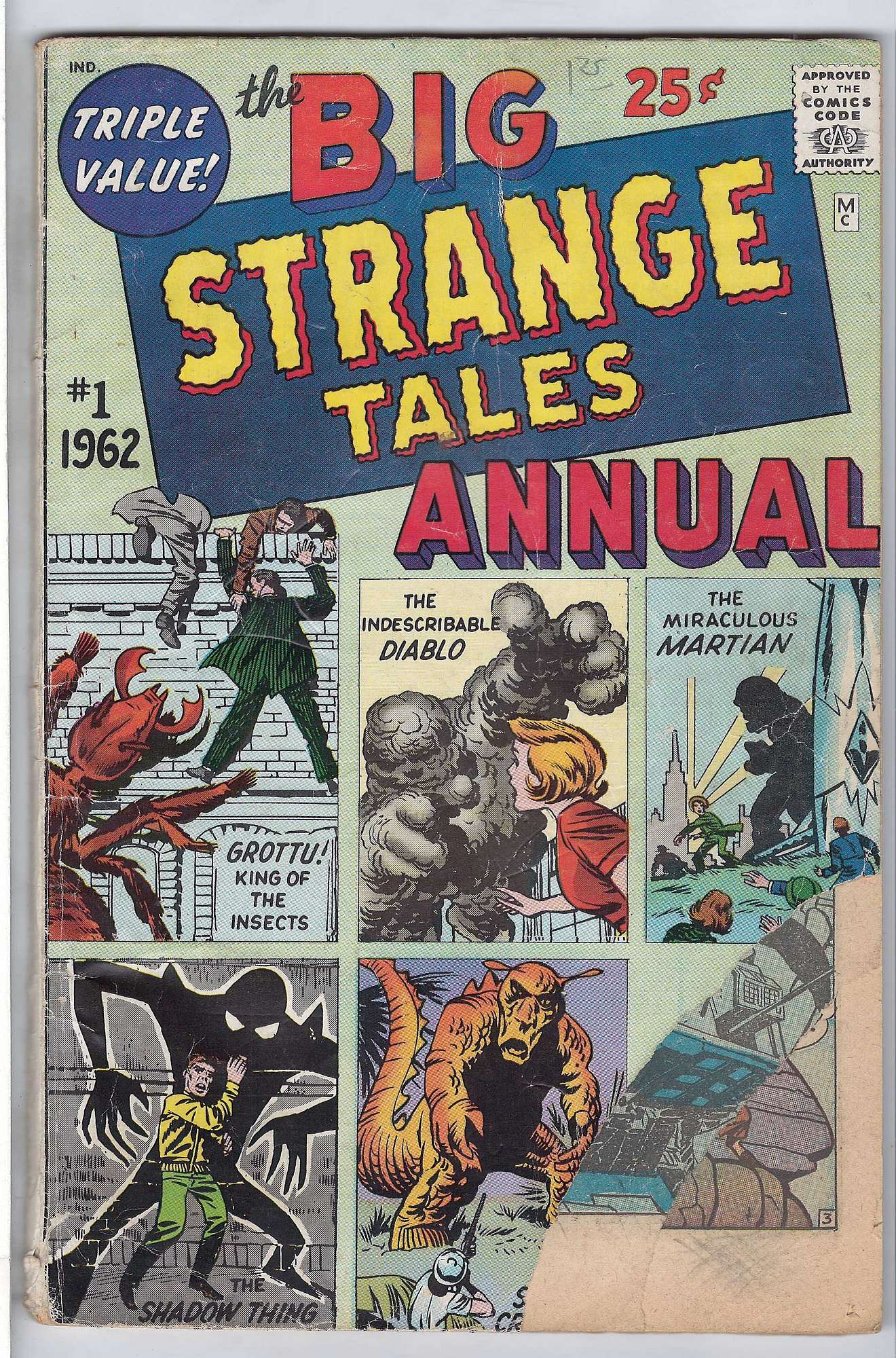 Cover of Strange Tales Annual #1. One of 250,000 Vintage American Comics on sale from Krypton!