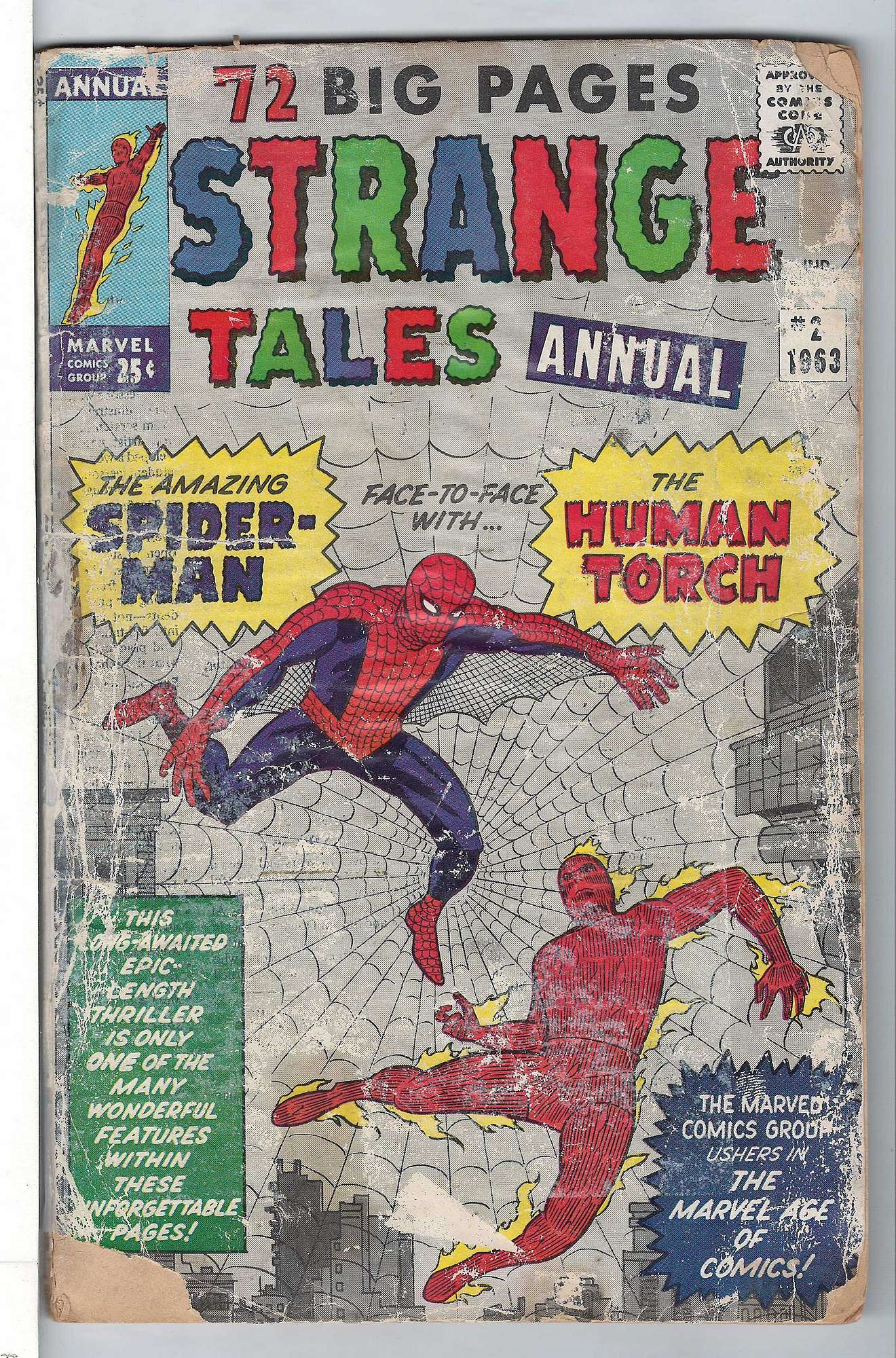 Cover of Strange Tales Annual #2. One of 250,000 Vintage American Comics on sale from Krypton!