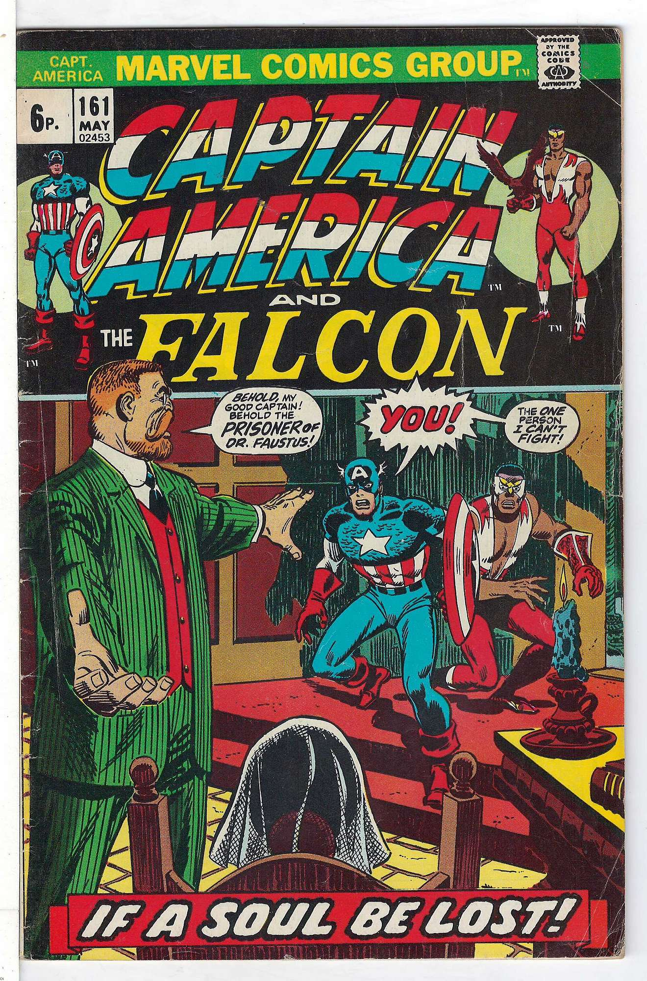 Cover of Captain America (Vol 1) #161. One of 250,000 Vintage American Comics on sale from Krypton!