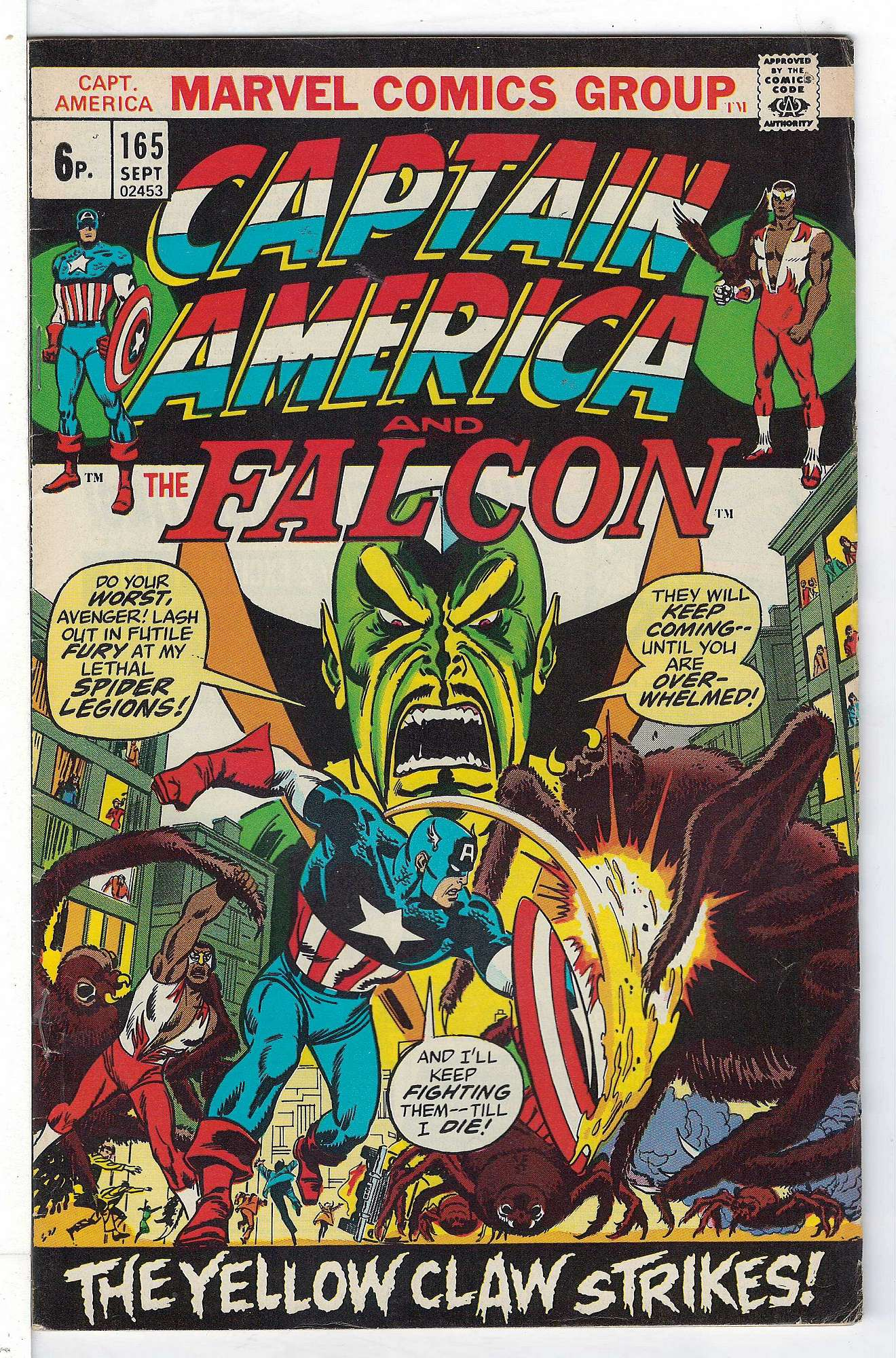 Cover of Captain America (Vol 1) #165. One of 250,000 Vintage American Comics on sale from Krypton!