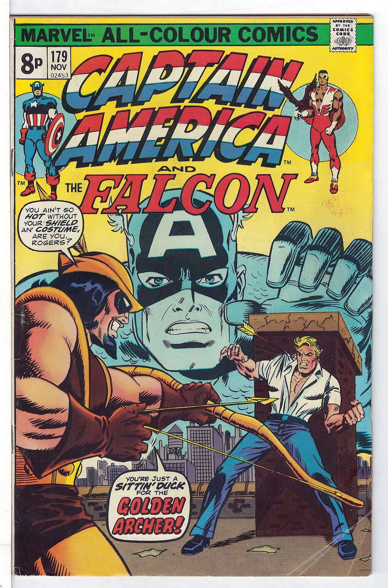Cover of Captain America (Vol 1) #179. One of 250,000 Vintage American Comics on sale from Krypton!