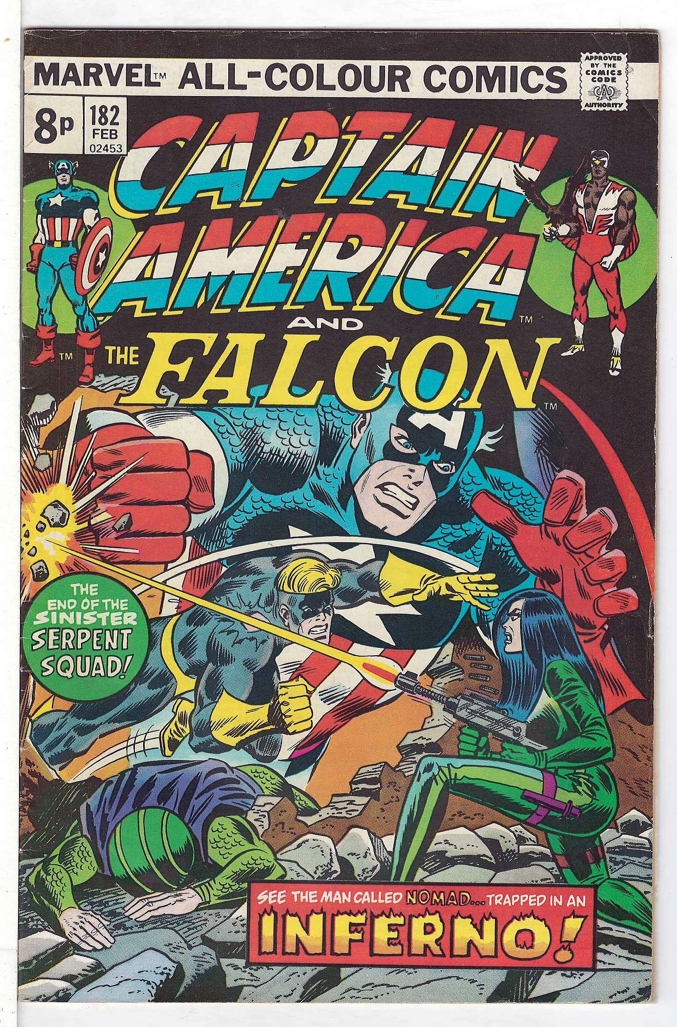 Cover of Captain America (Vol 1) #182. One of 250,000 Vintage American Comics on sale from Krypton!