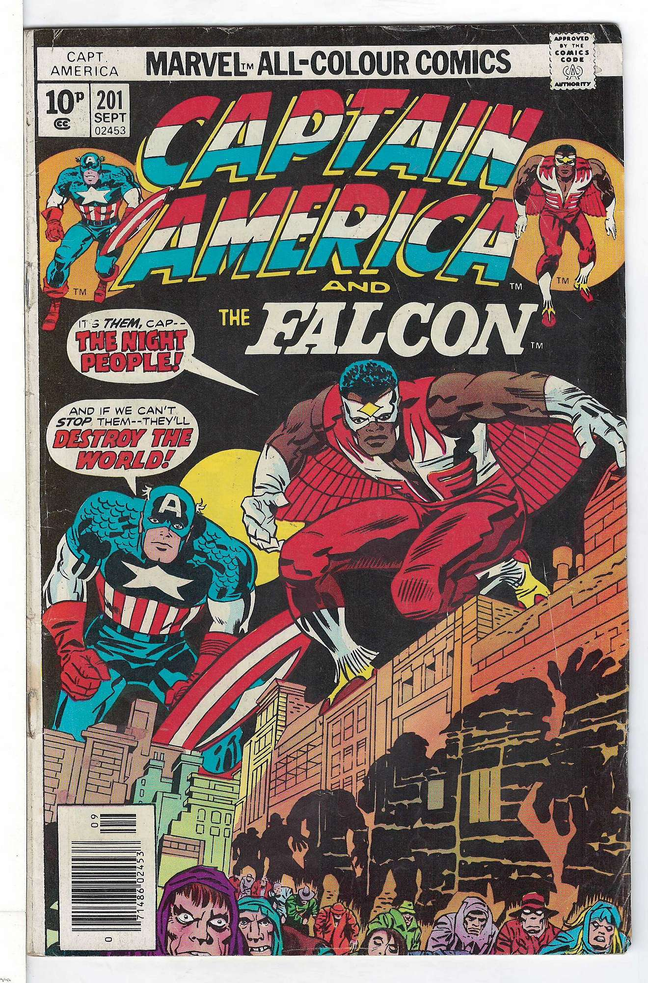 Cover of Captain America (Vol 1) #201. One of 250,000 Vintage American Comics on sale from Krypton!