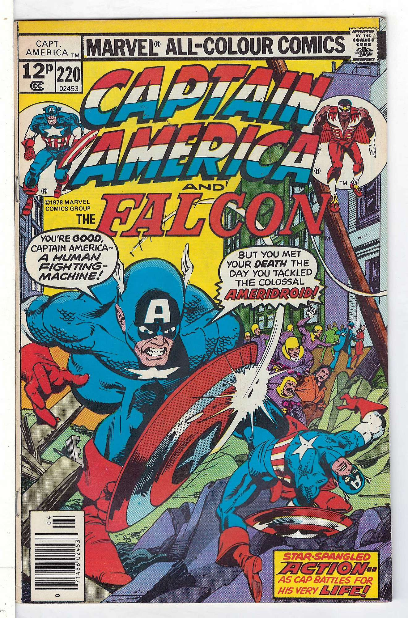 Cover of Captain America (Vol 1) #220. One of 250,000 Vintage American Comics on sale from Krypton!