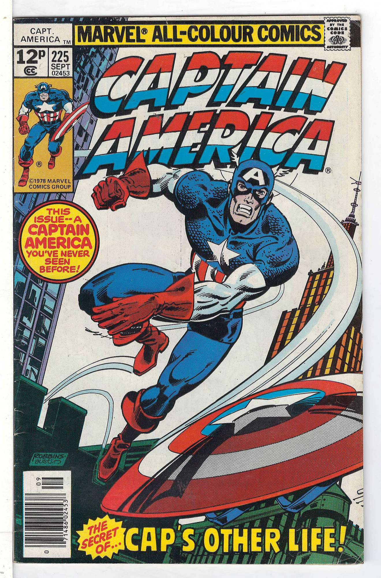 Cover of Captain America (Vol 1) #225. One of 250,000 Vintage American Comics on sale from Krypton!