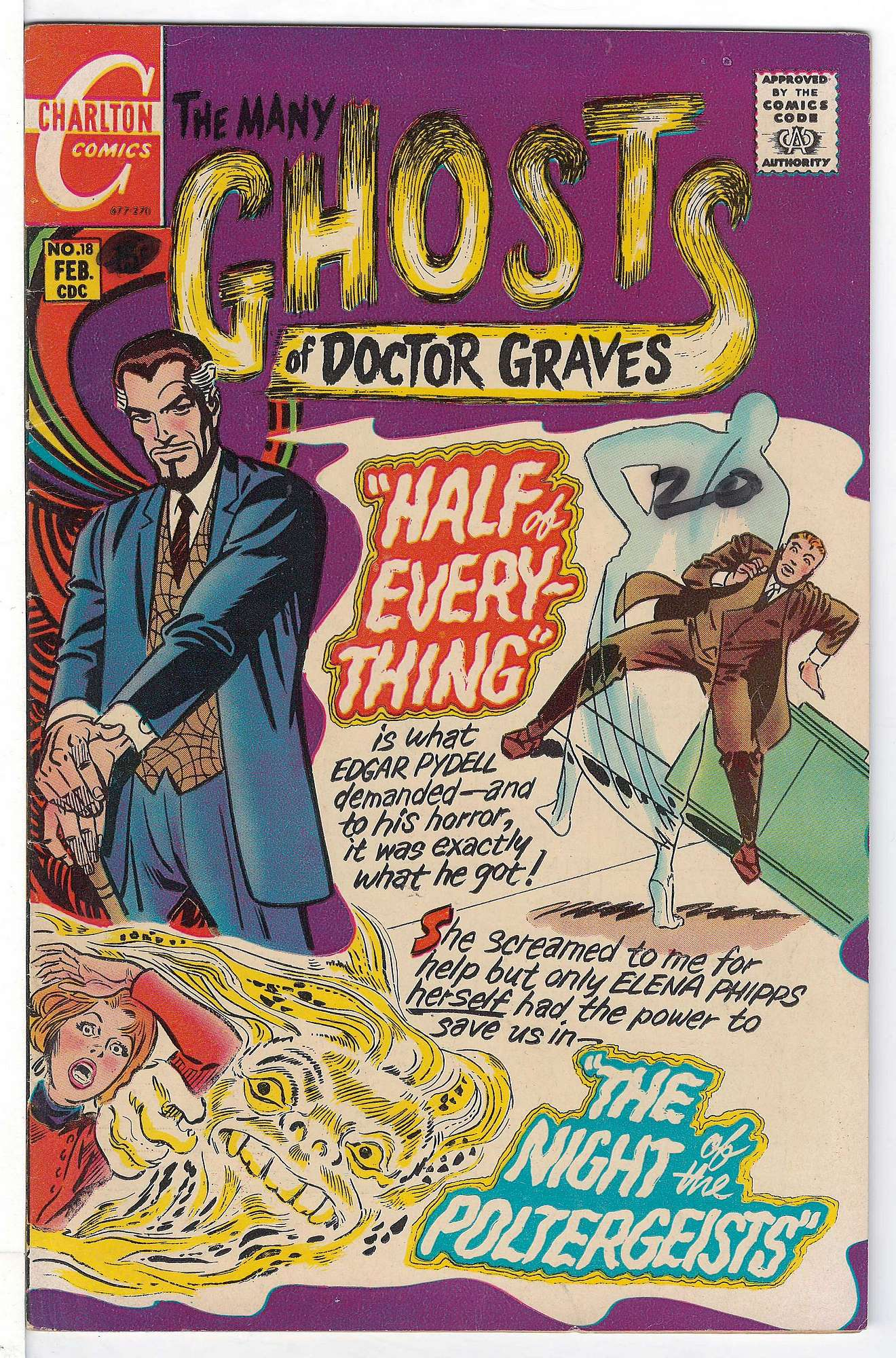 Cover of Many Ghosts of Doctor Graves #18. One of 250,000 Vintage American Comics on sale from Krypton!