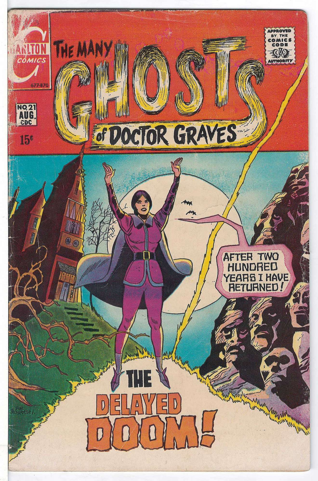 Cover of Many Ghosts of Doctor Graves #21. One of 250,000 Vintage American Comics on sale from Krypton!