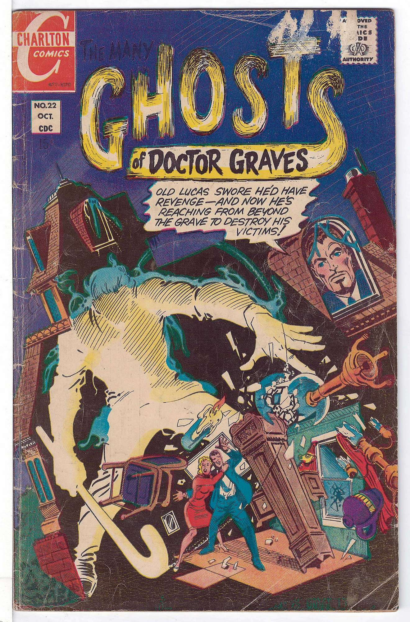 Cover of Many Ghosts of Doctor Graves #22. One of 250,000 Vintage American Comics on sale from Krypton!