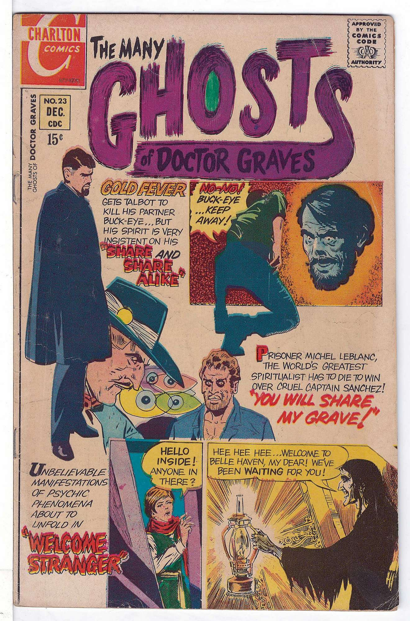 Cover of Many Ghosts of Doctor Graves #23. One of 250,000 Vintage American Comics on sale from Krypton!
