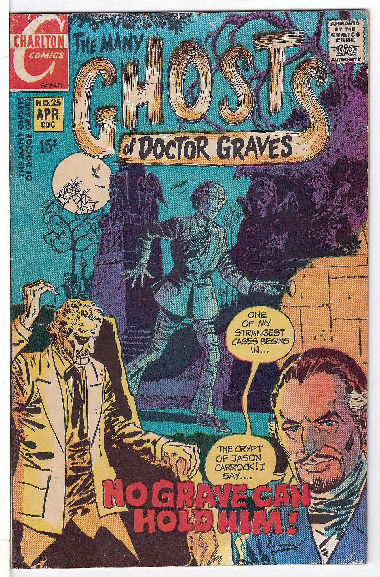 Cover of Many Ghosts of Doctor Graves #25. One of 250,000 Vintage American Comics on sale from Krypton!