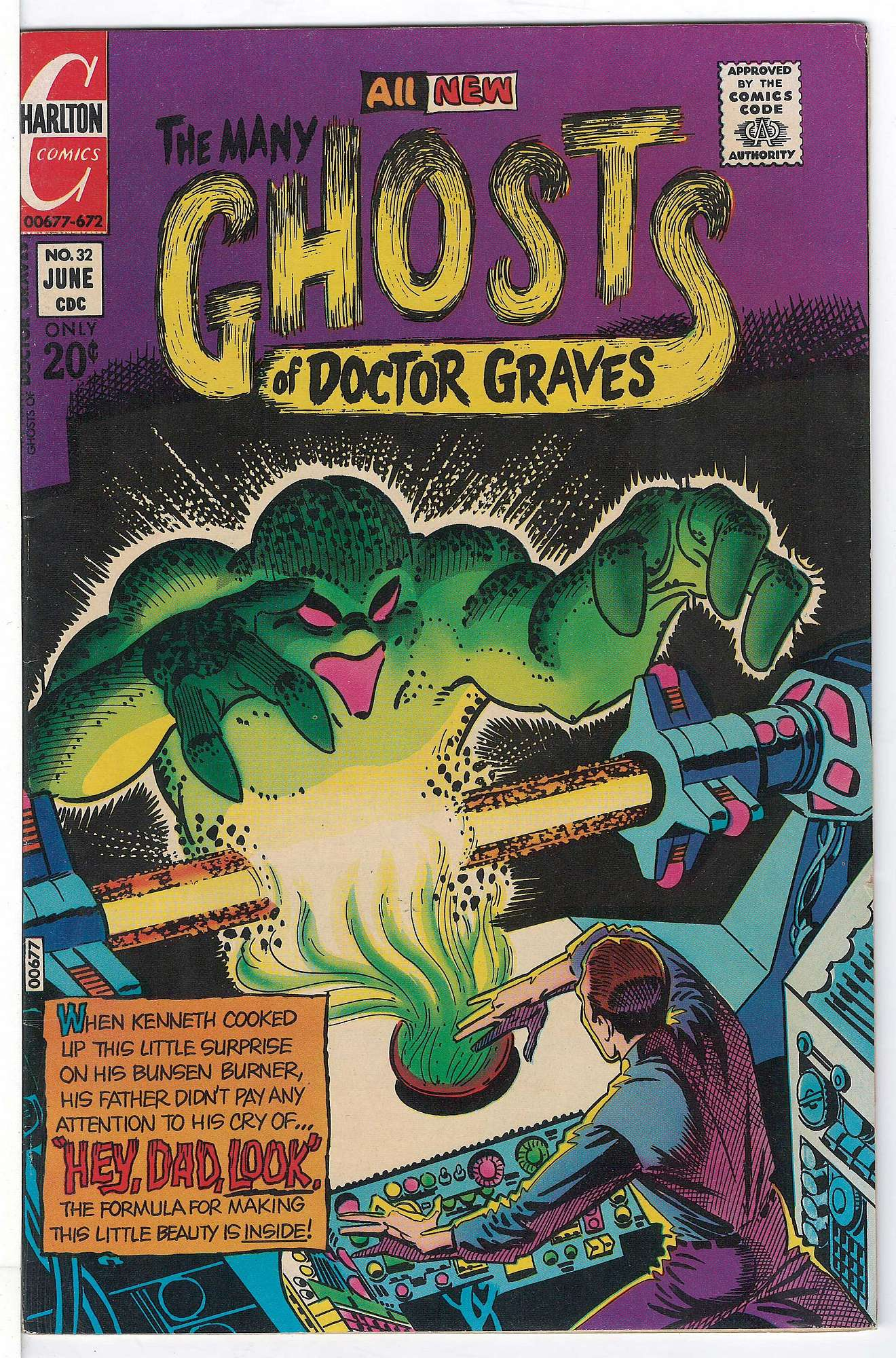 Cover of Many Ghosts of Doctor Graves #32. One of 250,000 Vintage American Comics on sale from Krypton!