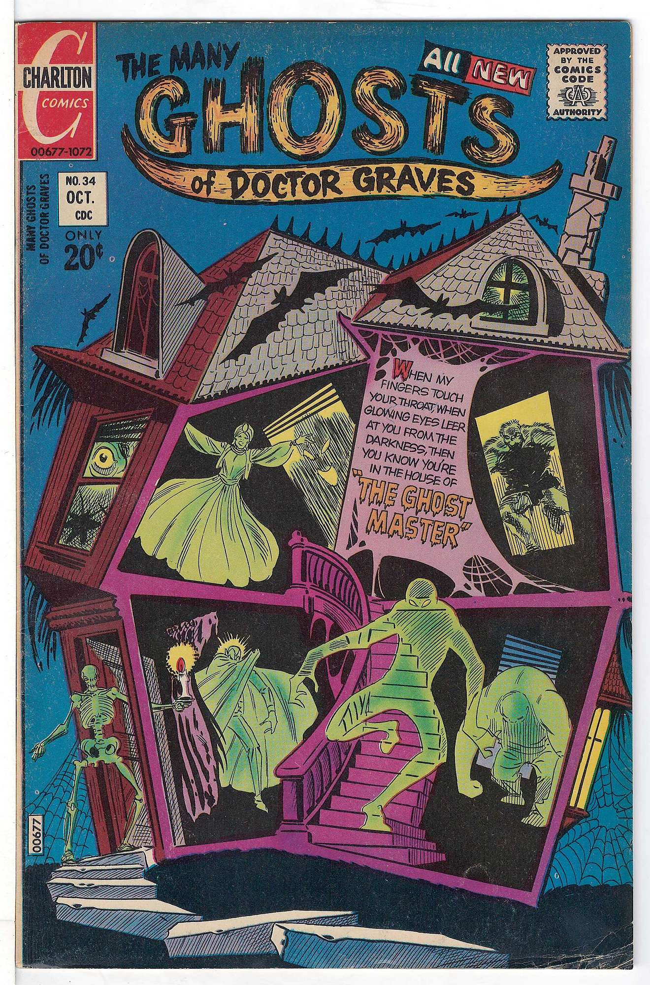 Cover of Many Ghosts of Doctor Graves #34. One of 250,000 Vintage American Comics on sale from Krypton!