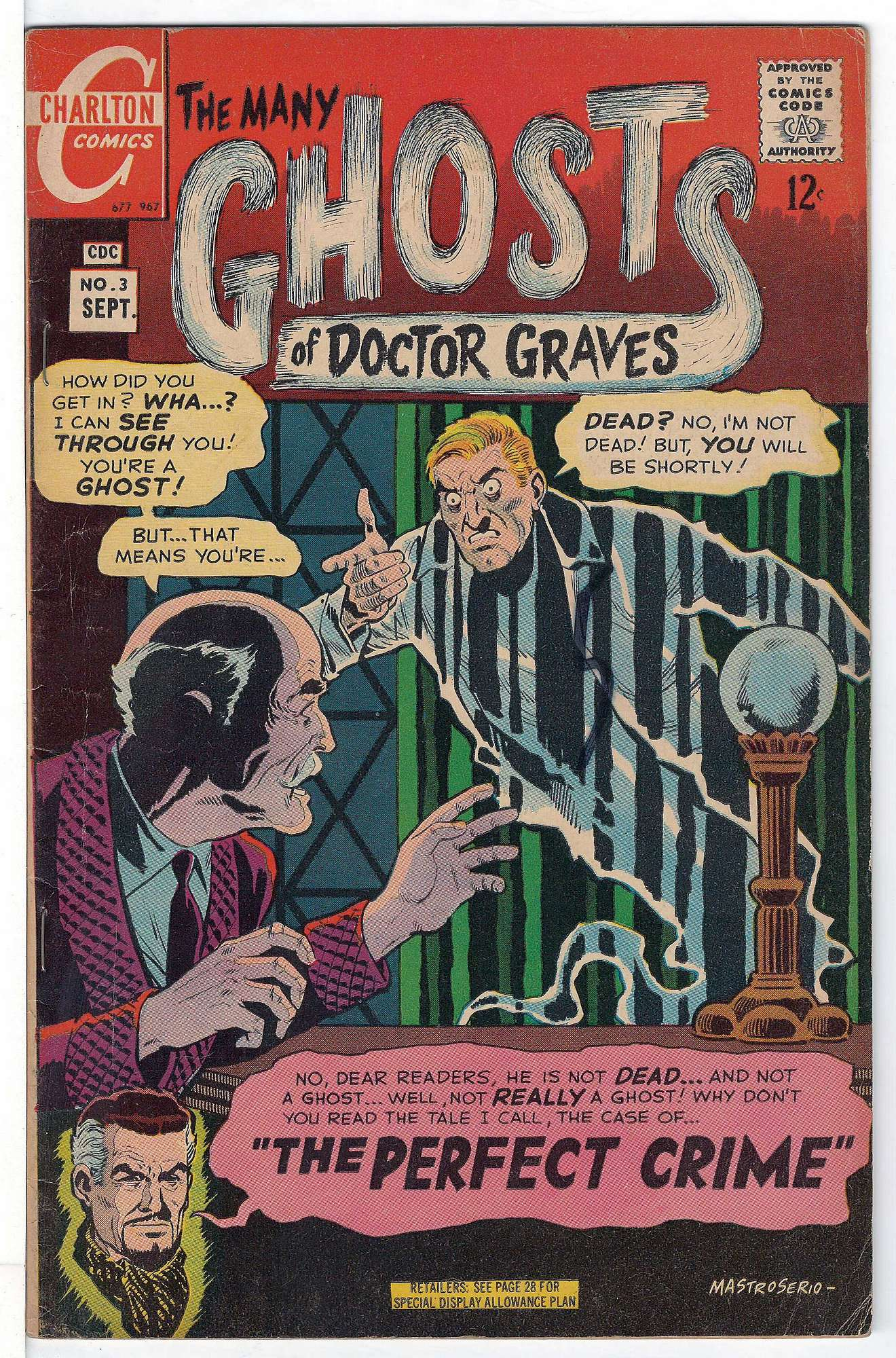 Cover of Many Ghosts of Doctor Graves #3. One of 250,000 Vintage American Comics on sale from Krypton!