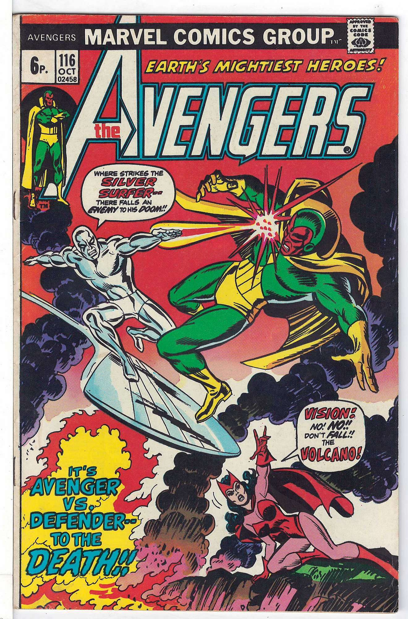 Cover of Avengers (Vol 1) #116. One of 250,000 Vintage American Comics on sale from Krypton!